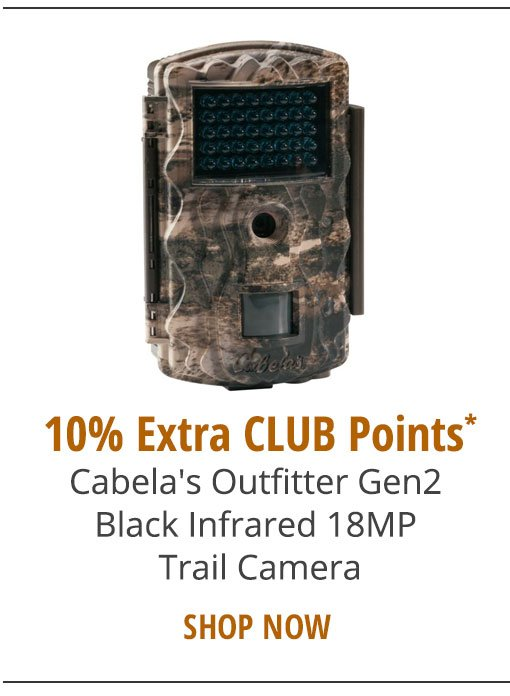 10% EXTRA CLUB POINTS - Cabela's Outfitter Gen2 Black Infrared 18MP Trail Camera