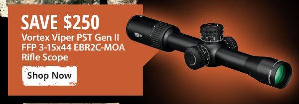 Save $250 on Vortex Viper PST Gen II FFP Rifle Scope