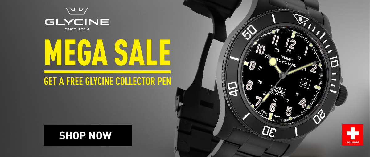 Glycine Super Sale - Get a Free Glycine collector pen