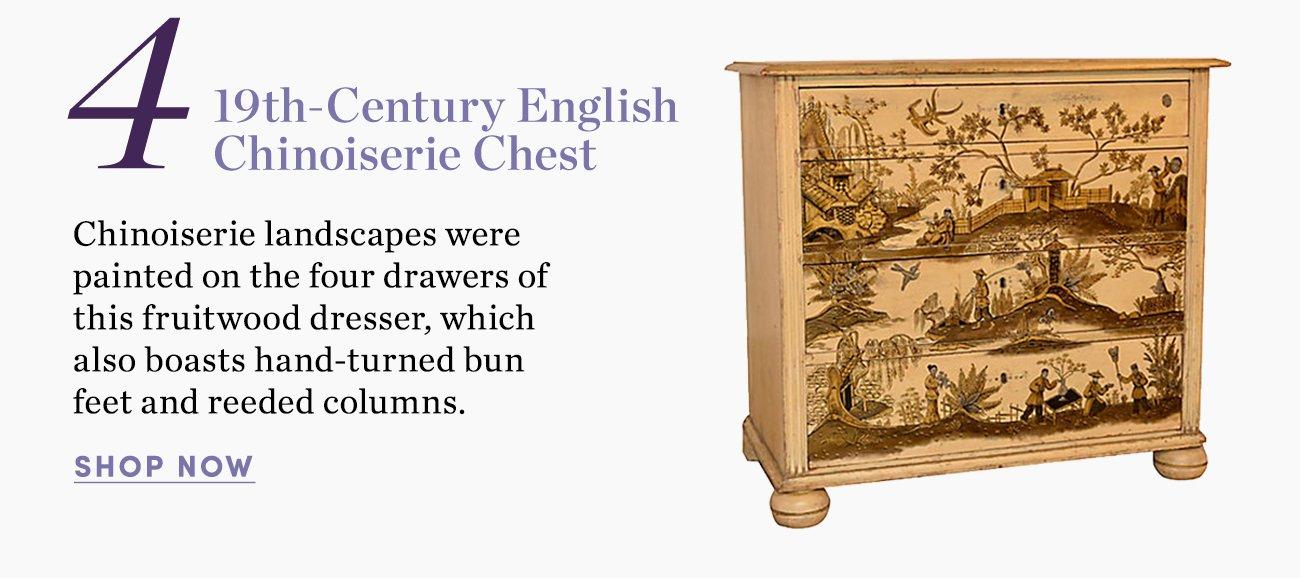 4. 19th-Century English Chinoiserie Chest