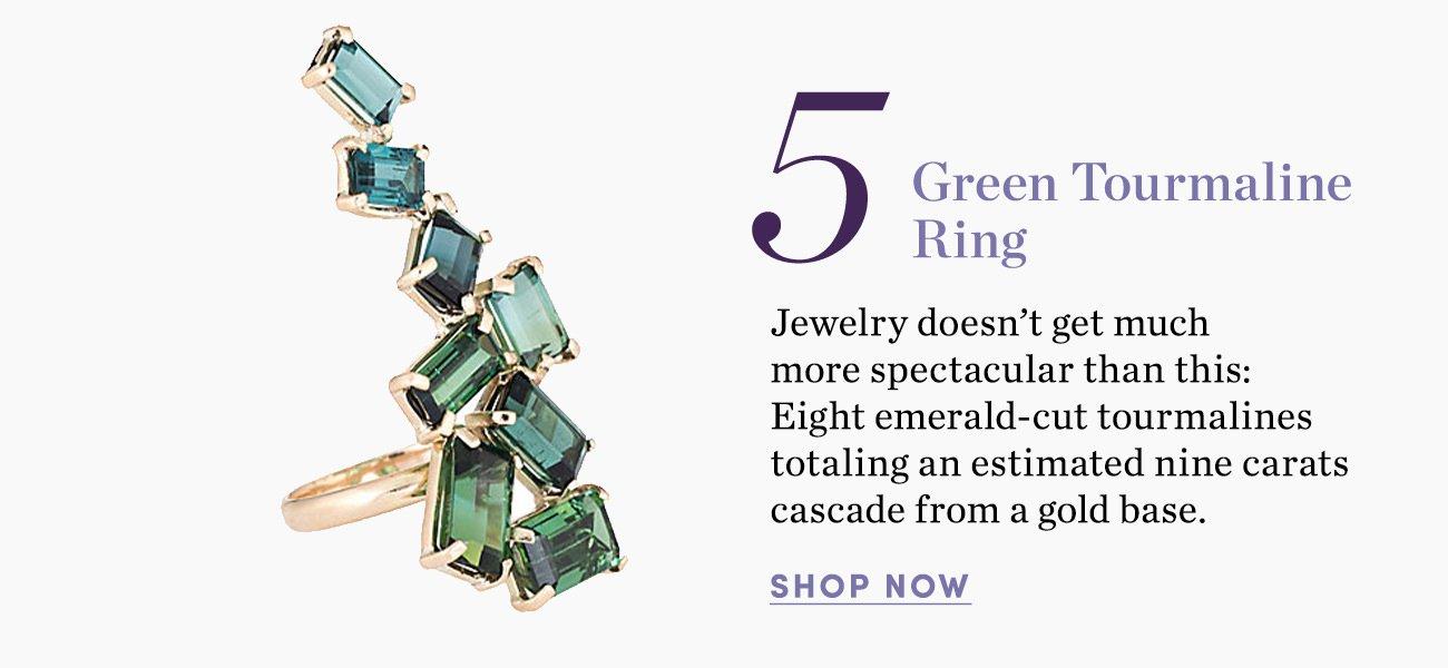 5. Green Tourmaline Ring