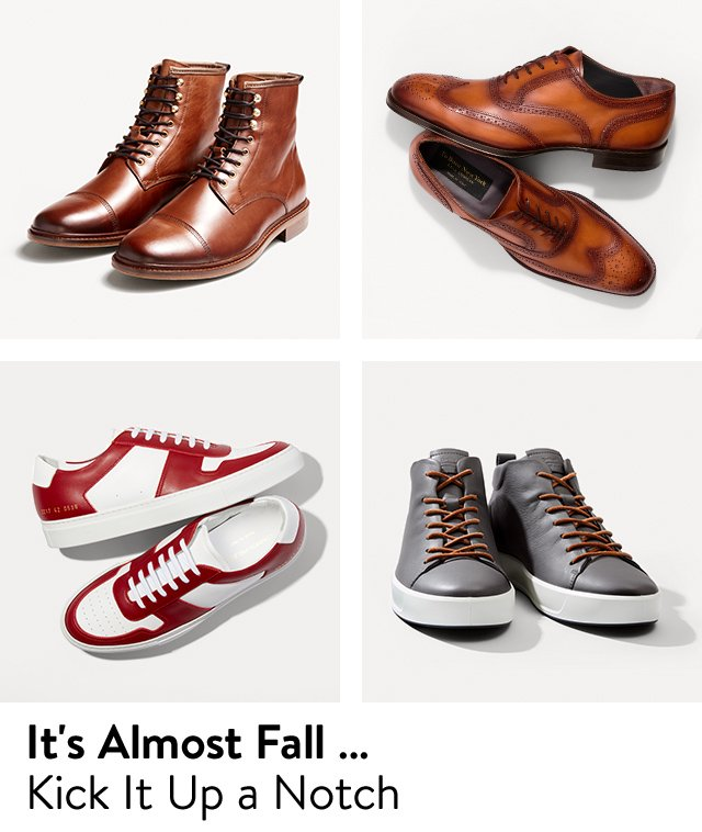It's almost fall: men's shoes you need.