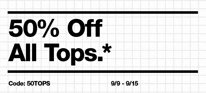 50% Off All Tops