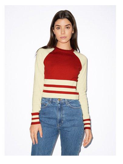 Basic Knit Long Sleeve Cheer Sweater