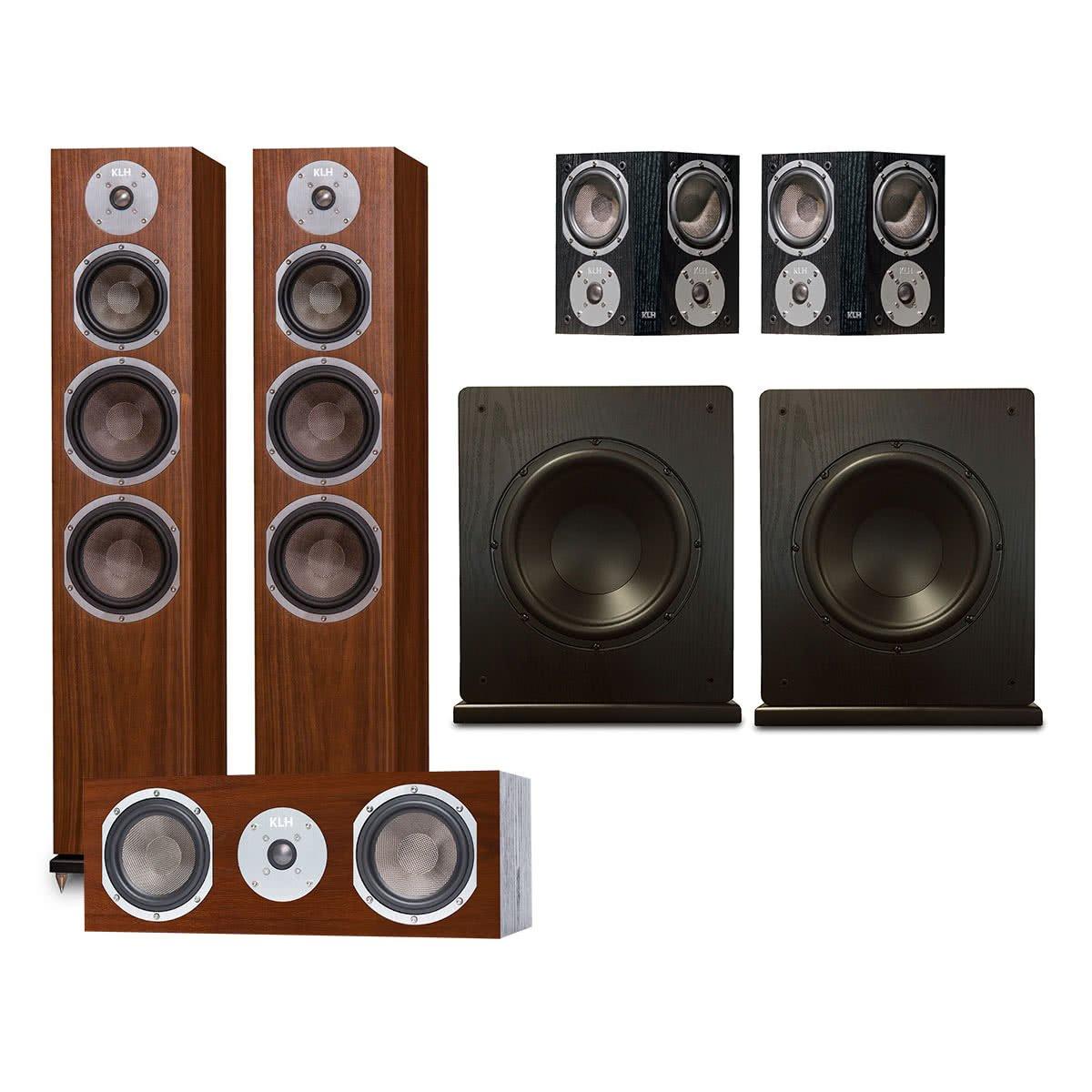 KLH Kendall 5.2 Channel Speaker System (Walnut)
