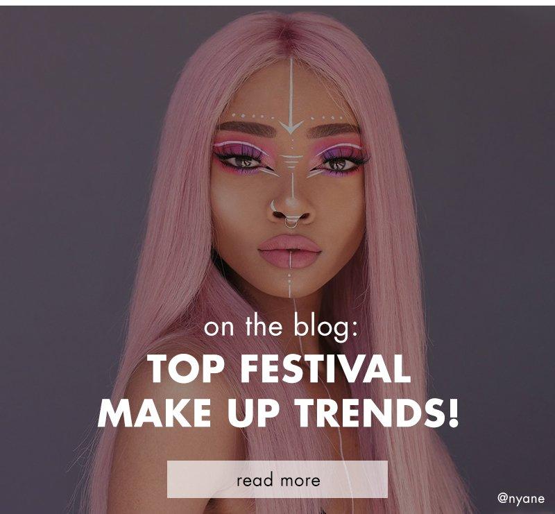 top festival make up trends