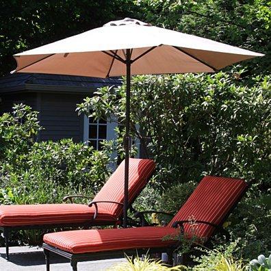 Pure Garden 9' Aluminum Patio Umbrella with Auto Crank - Tan