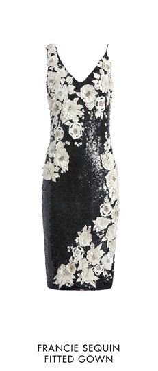 FRANCIE SEQUIN FITTED GOWN