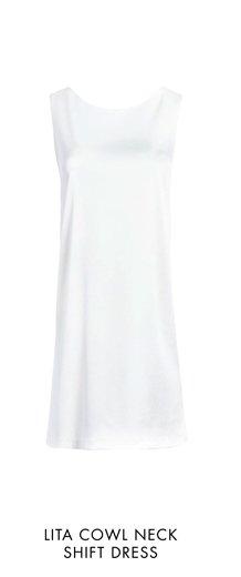 LITA COWL NECK SHIFT DRESS
