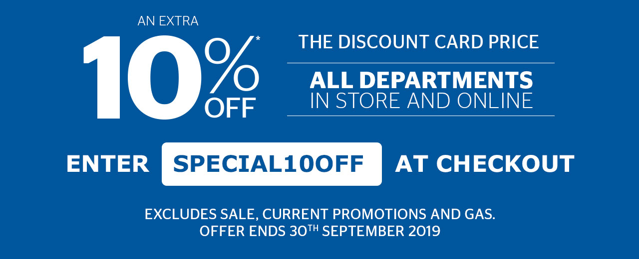 An extra 10% off all departments