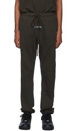 Essentials - Khaki Logo Lounge Pants