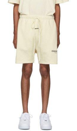 Essentials - Off-White Reflective Logo Sweat Shorts