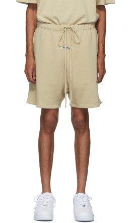 Essentials - SSENSE Exclusive Beige Logo Sweat Shorts