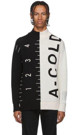 A-Cold-Wall* - Black & White Logo Jacquard Sweater