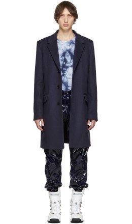 Acne Studios - Navy Wool Odilon Coat