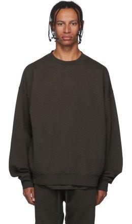 Essentials - Khaki Pullover Crewneck Sweatshirt