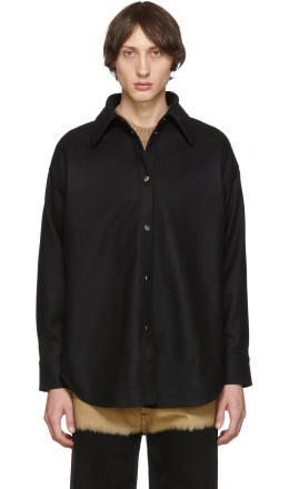 Acne Studios - Black Flannel Sarwin Shirt