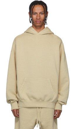 Essentials - SSENSE Exclusive Beige Pullover Hoodie