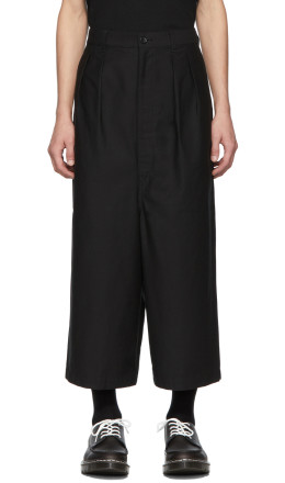 Comme des Garçons Homme - Black Cotton Back Trousers