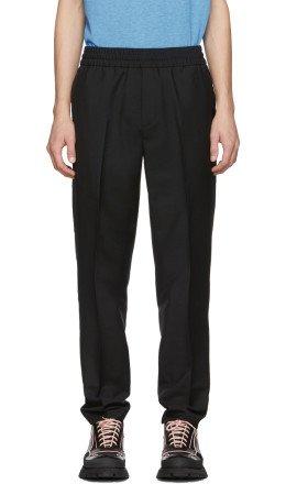 Acne Studios - Black Wool Mohair Ryder Trousers