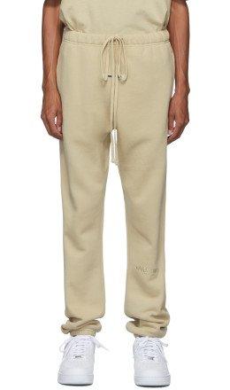 Essentials - SSENSE Exclusive Beige Logo Lounge Pants