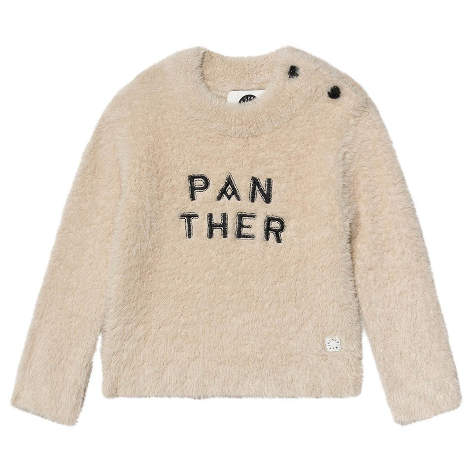 Sproet and Sprout Cream Panther Jumper