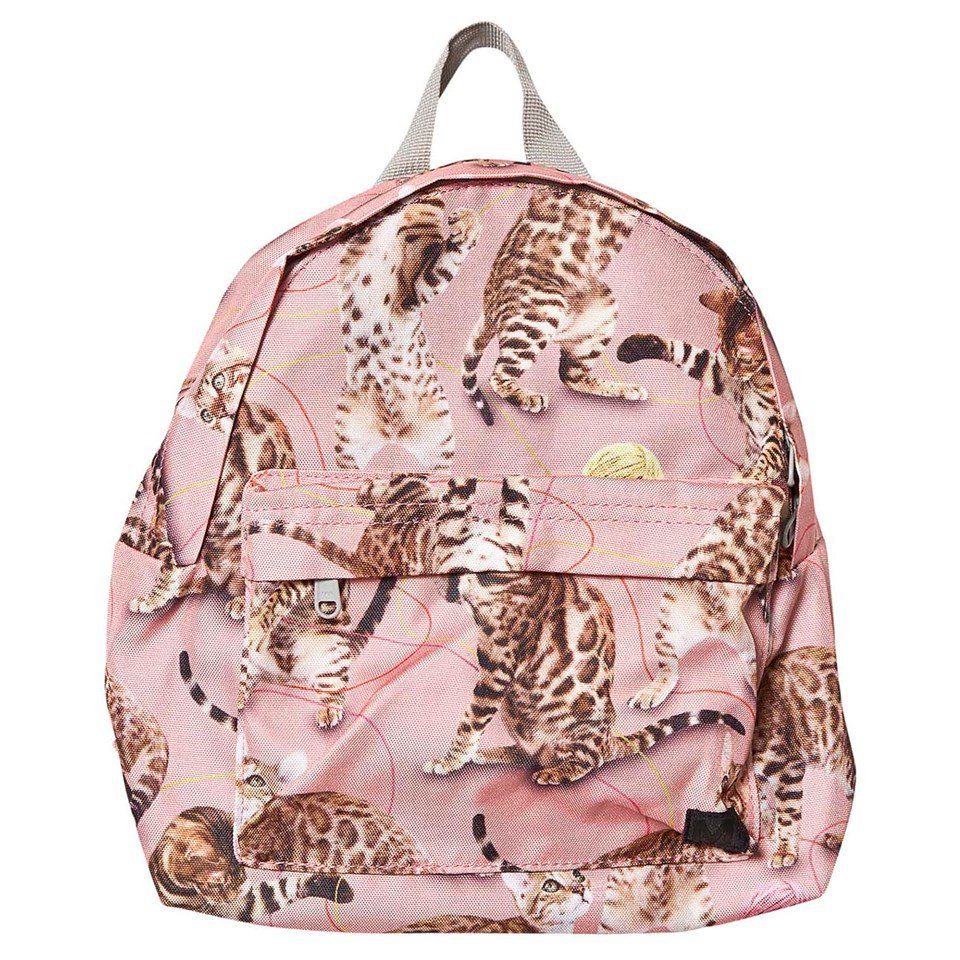 Molo Pink Wannabe Leopard Backpack