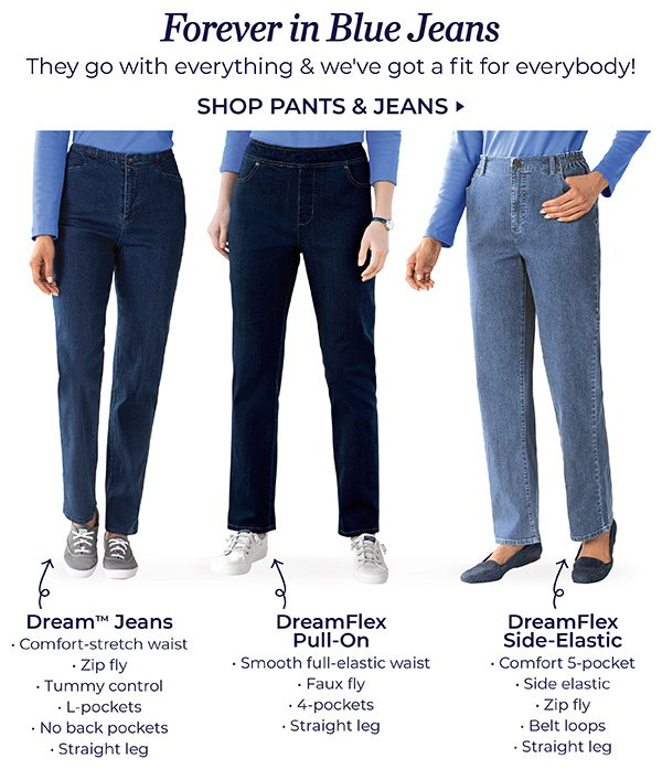 FOREVER IN BLUE JEANS. SHOP PANTS & JEANS.