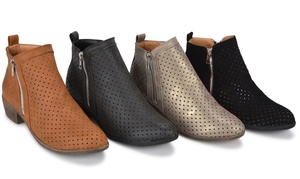 Sociology Zenia Booties with Side Zipper | Groupon Exclusive
