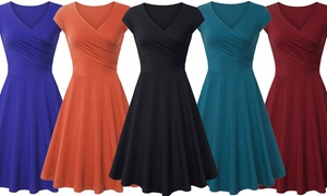 Lyss Loo Women's Spring Skater Flare Dress with Plus size