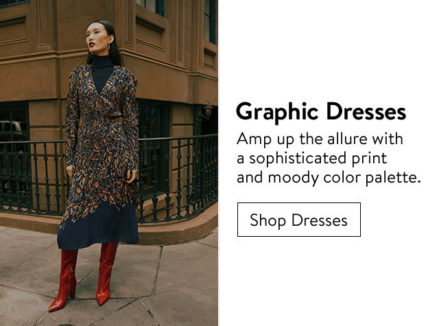 Fall's top trends: graphic dresses.