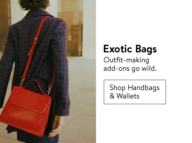 Fall's top trends: exotic bags.