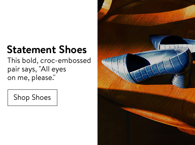 Fall's top trends: statement shoes.
