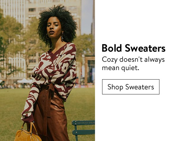 Fall's top trends: bold sweaters.