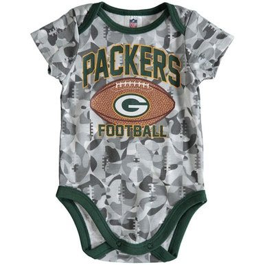 Image of Packers Football Camouflage Bodysuit - Baby