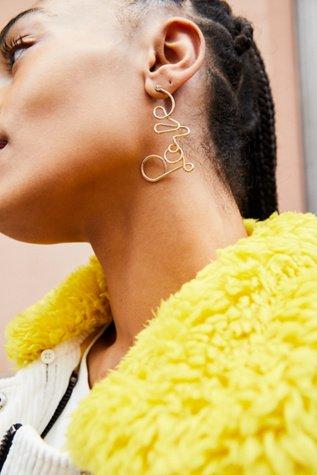 Love Dangle Earrings