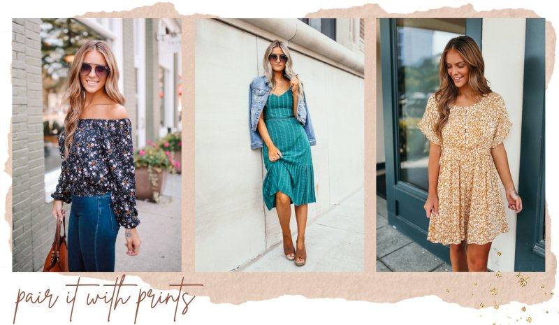printed dresses and tops