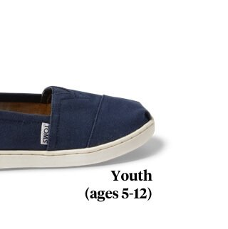 Navy Canvas TOMS Youth Classics 2.0