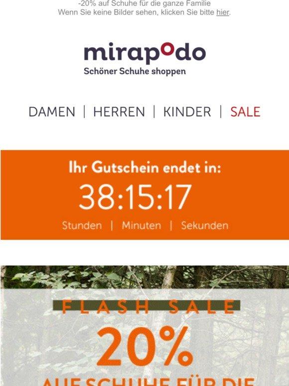 mirapodo: Ihr Flash Sale Countdown läuft! | Milled