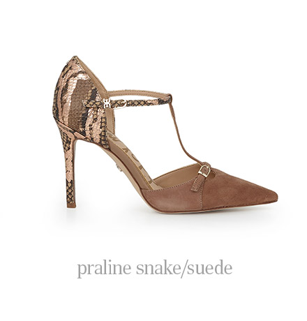 praline snake/suede
