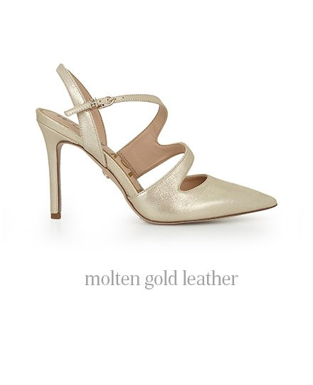 molten gold leather