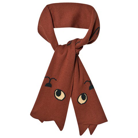 Tinycottons Dark Brown Cats Scarf