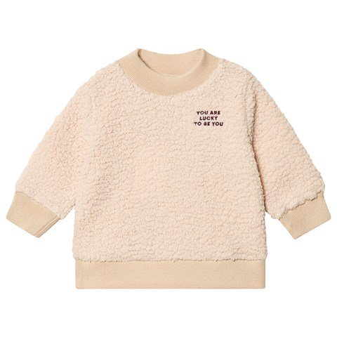 Tinycottons Sand You Are Lucky To Be You Sweatshirt