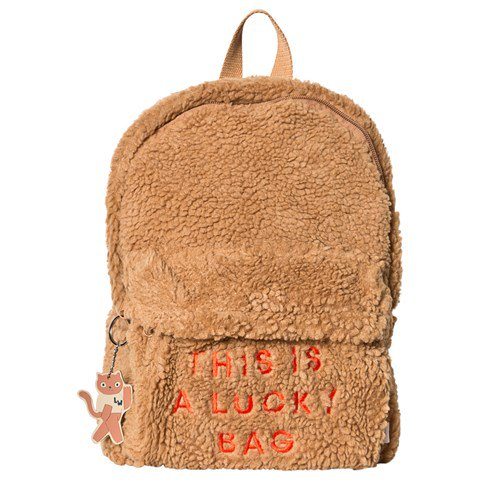 Tinycottons Brown Sherpa Backpack
