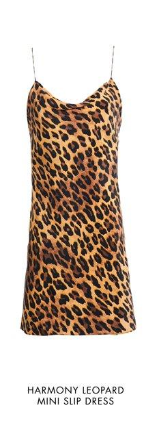 HARMONY LEOPARD MINI SLIP DRESS