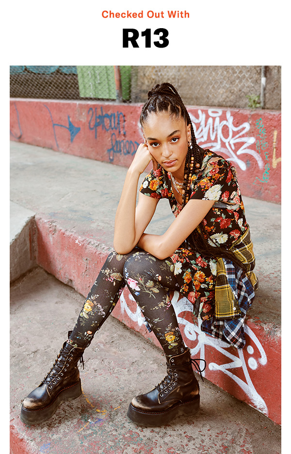 Edged-up plaids, moody florals & shredded denim: how the grungy-luxe label does fall.