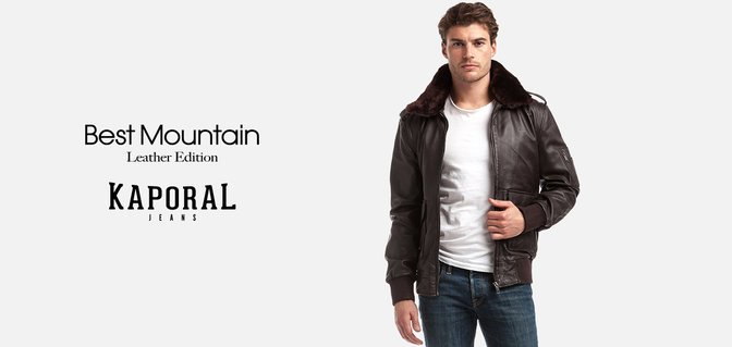 Leather jackets by Best Mountain + Kaporal