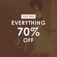 Everything 70% off for Her