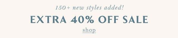 Shop 40% off sale items.