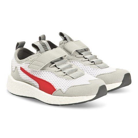 Puma White & Red NRGY Neko Skim Kids TrainersWhite & Red NRGY Neko Skim Kids Trainers